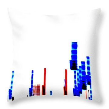 Dna Slide Throw Pillow by Methune Hively