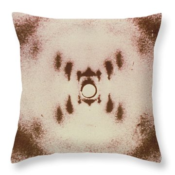 Dna X-ray Throw Pillow by Science Source