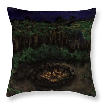 Dancing Naked In The Forest Back Cover Throw Pillow