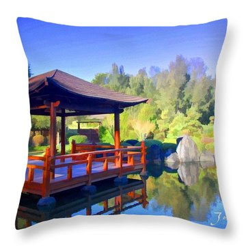 Do-00003 Shinden Style Pavilion Throw Pillow