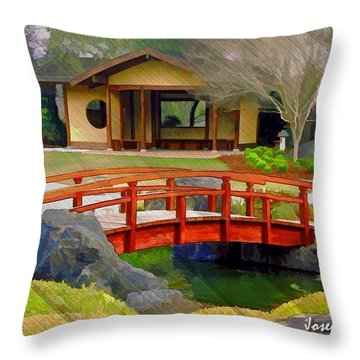 Do-00006 Cypress Bridge And Tea House Throw Pillow