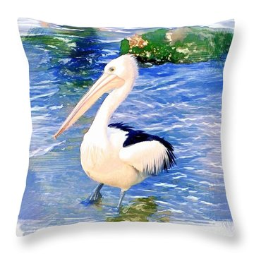 Do-00088 Pelican Throw Pillow