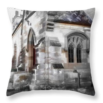 Throw Pillow featuring the photograph Do-00116 Church In Morpeth by Digital Oil