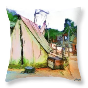 Throw Pillow featuring the photograph Do-00139 Tent by Digital Oil