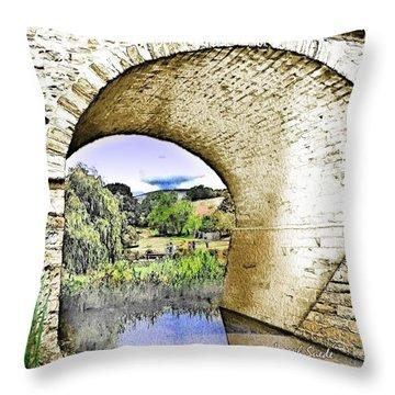 Throw Pillow featuring the photograph Do-00262 Richmond Bridge by Digital Oil