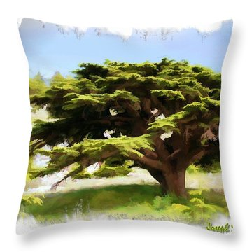 Do-00319 Cedar Tree Throw Pillow