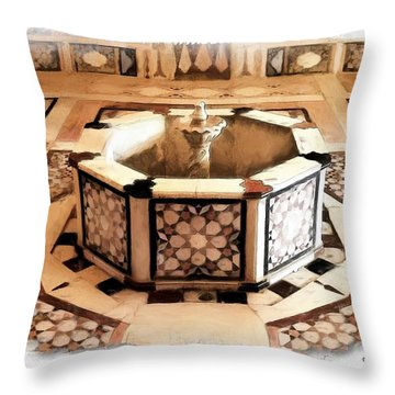 Throw Pillow featuring the photograph Do-00323 Old Bath Fountain by Digital Oil
