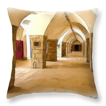 Do-00324 Beiteddine Gallery Throw Pillow