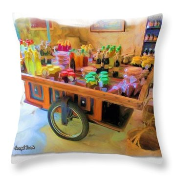 Throw Pillow featuring the photograph Do-00391 Wheel Stand by Digital Oil