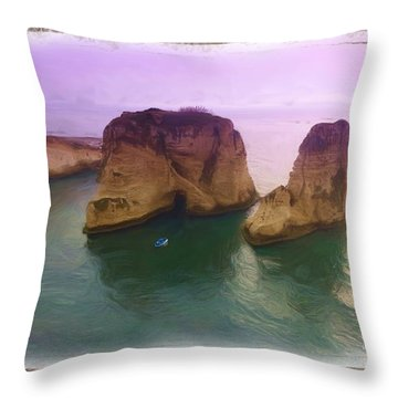 Do-00404 Grotte Aux Pigeons Throw Pillow