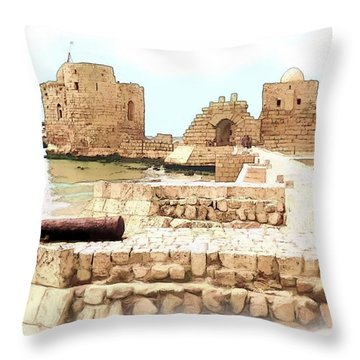 Do-00423 Citadel Of Sidon Throw Pillow
