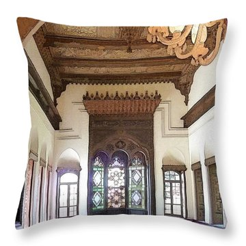 Do-00448 Reception Room At Beiteddine Throw Pillow