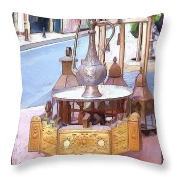 Throw Pillow featuring the photograph Do-00456 Artisanat Collection by Digital Oil