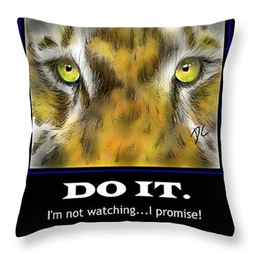 Throw Pillow featuring the digital art Do It Motivational by Darren Cannell