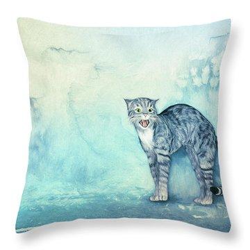 Do Not Come Closer Throw Pillow