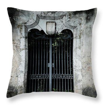 Throw Pillow featuring the photograph Do Not Enter by Marco Oliveira
