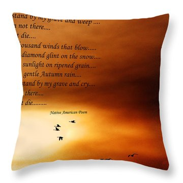Throw Pillow featuring the photograph Do Not Weep by Denise Romano