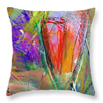 Do Over In Color 2 Throw Pillow by Shelley Graham Turner
