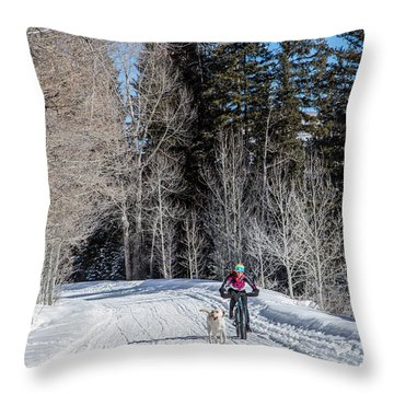 Do They Sell Snow Tires For Bikes Throw Pillow