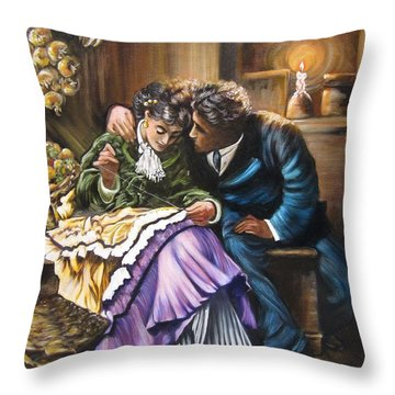 American History    Will You Marry  Me? Throw Pillow