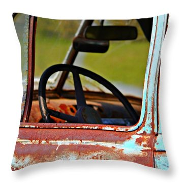 Do You Need A Ride- Fine Art Throw Pillow by KayeCee Spain