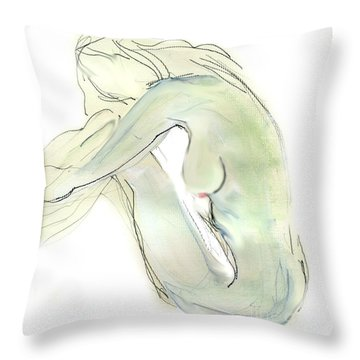 Do You Think - Female Nude Throw Pillow