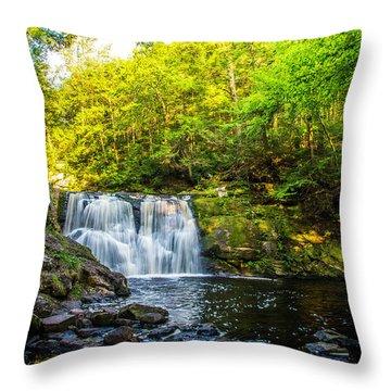 Doans Falls Lower Falls Throw Pillow