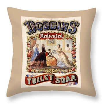 Dobbins Medicated Toilet Soap Throw Pillow