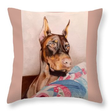 Rudy Throw Pillow by David Hoque
