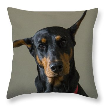 Dobie Throw Pillow