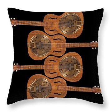 Dobro 5 Throw Pillow by Mike McGlothlen