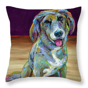 Throw Pillow featuring the painting Doc by Robert Phelps