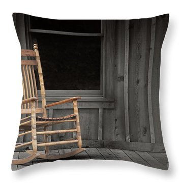 Dock Chair Throw Pillow