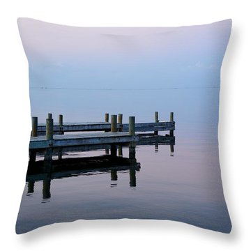 Throw Pillow featuring the photograph Dock On The Indian River by Bradford Martin