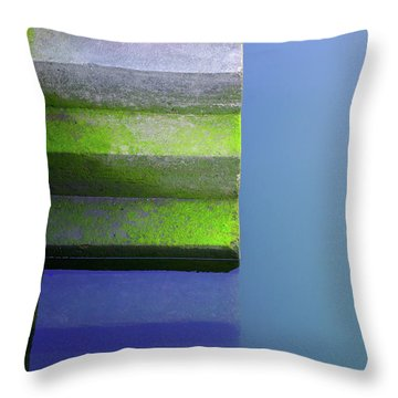 Dock Stairs Throw Pillow by Carlos Caetano