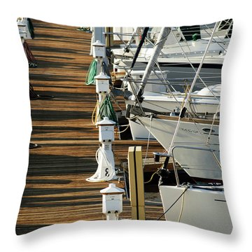 Dock Walk Throw Pillow