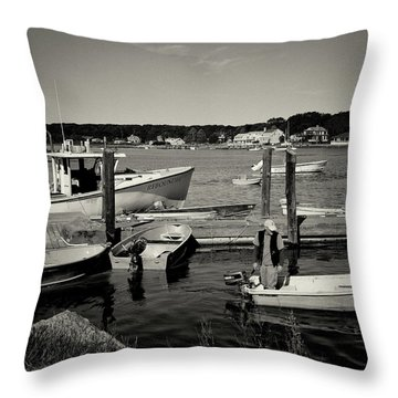 Dock Work Throw Pillow