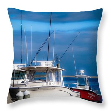 Docked And Quiet Throw Pillow