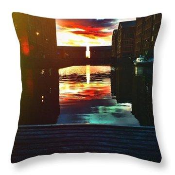 Dockland Sun Down Throw Pillow