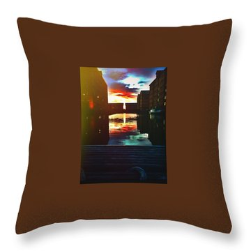 Dockland Sun Down Throw Pillow