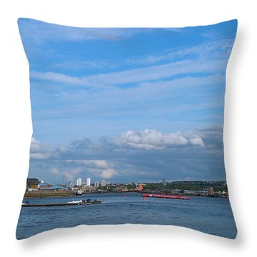 Docklands And Skyline Throw Pillow
