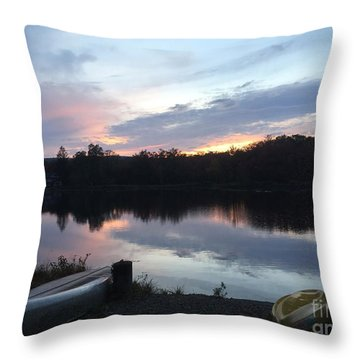 Dockside Pastels Throw Pillow