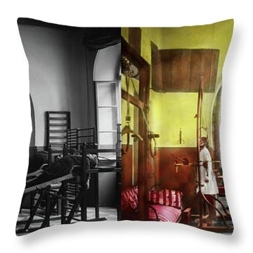 Throw Pillow featuring the photograph Doctor - Physical Therapist - Welcome To The A Traction 1918 - Side By Side by Mike Savad