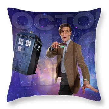Doctor Who Throw Pillow by Pat Cook