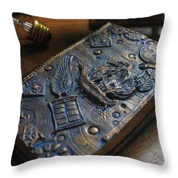 Doctor Who Steampunk Journal  Throw Pillow