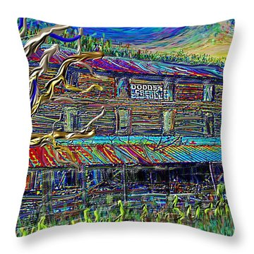 Dodds Creek Mill, ,floyd Virginia Throw Pillow