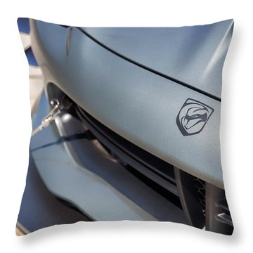 Throw Pillow featuring the photograph #dodge #acr #viper #print by ItzKirb Photography