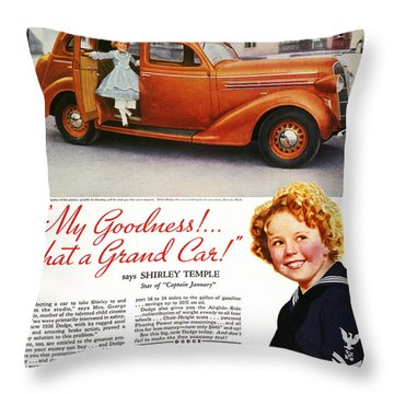 Dodge Automobile Ad, 1936 Throw Pillow by Granger
