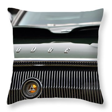 Dodge Charger Hood Throw Pillow