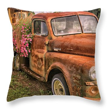 Dodge Flower Pot Throw Pillow